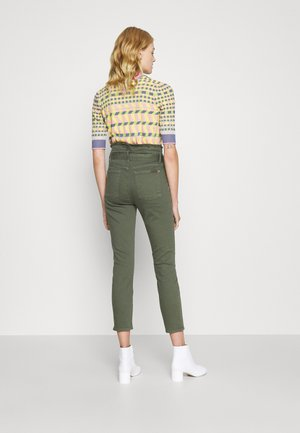 PAPERBAG JEAN ARMY - Jeansy Slim Fit - green