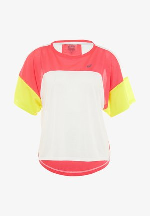 STYLE  - Print T-shirt - brilliant white/laser pink