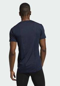 adidas Performance - TURF SS PRIMEGREEN TECHFIT TRAINING WORKOUT COMPRESSION T-SHIRT - Print T-shirt - blue - 1