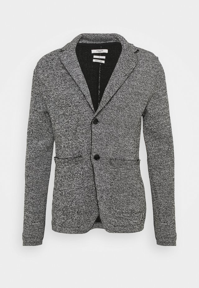 JPRBLACARTER SWEAT BLAZER - Blazer jacket - black/mixed with white