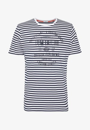 T-shirt con stampa - black iris blue