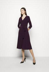 Lauren Ralph Lauren - MID WEIGHT DRESS - Trikoomekko - raisin - 0