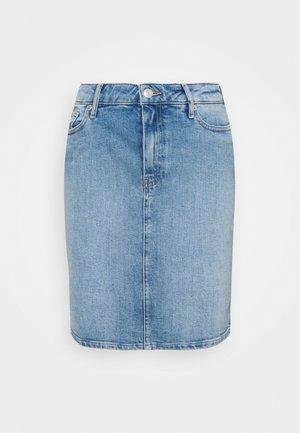ROME SHORT SKIRT - Pencil skirt - blue denim