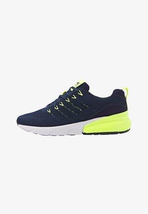 TURON - Sneakers - navy/neon yellow