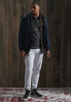 OL VINTAGE EMB  - Basic T-shirt - winter black space dye