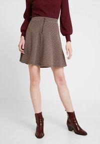 edc by Esprit - A LINE SKIRT - Mini skirt - khaki green - 0