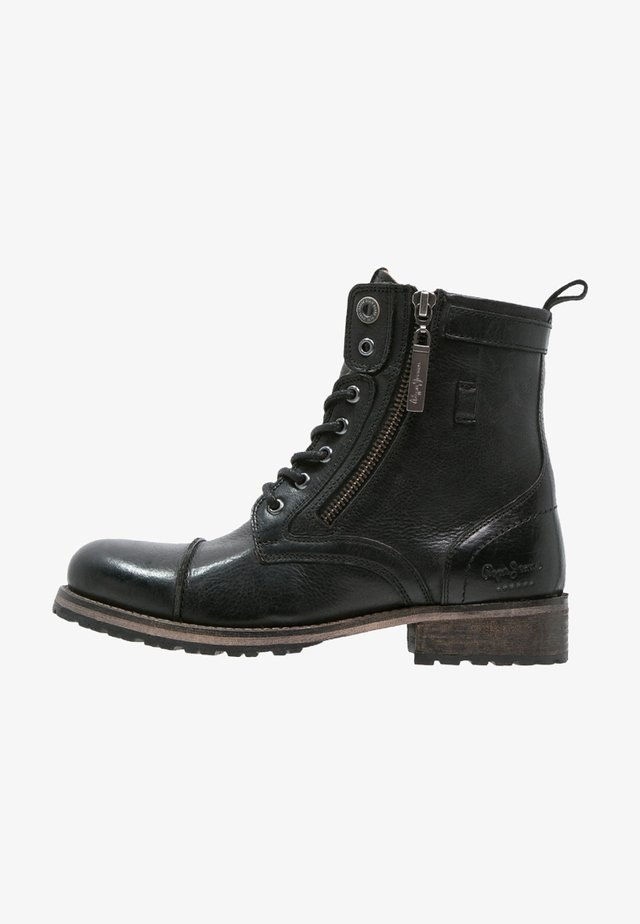 MELTING  - Bottines à lacets - black