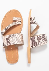 Topshop Wide Fit - WIDE FIT HOPE  - T-bar sandals - natural - 3