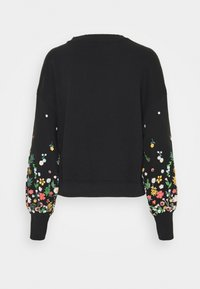 ONLY - ONLBROOKE O NECK FLOWER - Sweatshirt - black - 1