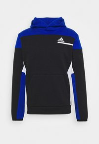 ZNE SPORTSWEAR RELAXED HOODED - Hoodie - black/royal blue