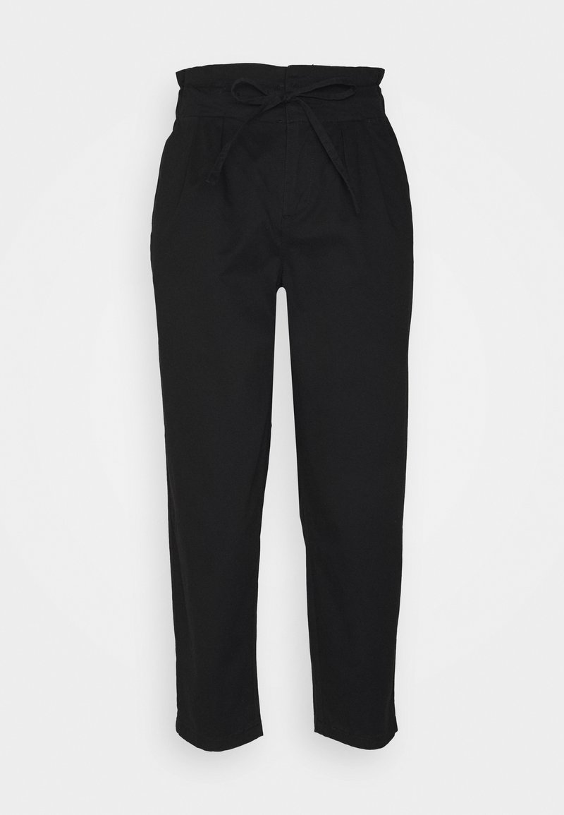 Vero Moda Petite - VMEVANY LOOSE STRING PANT - Tygbyxor - black
