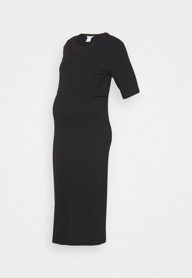 DRESS MOM NURSING IDA - Žerzejové šaty - black