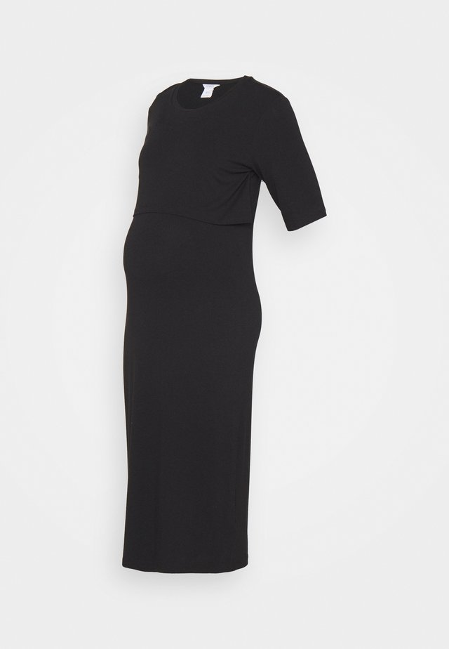 DRESS MOM NURSING IDA - Sukienka z dżerseju - black