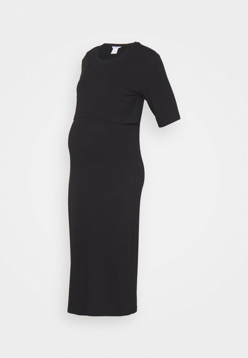 Lindex - DRESS MOM NURSING IDA - Žerzejové šaty - black