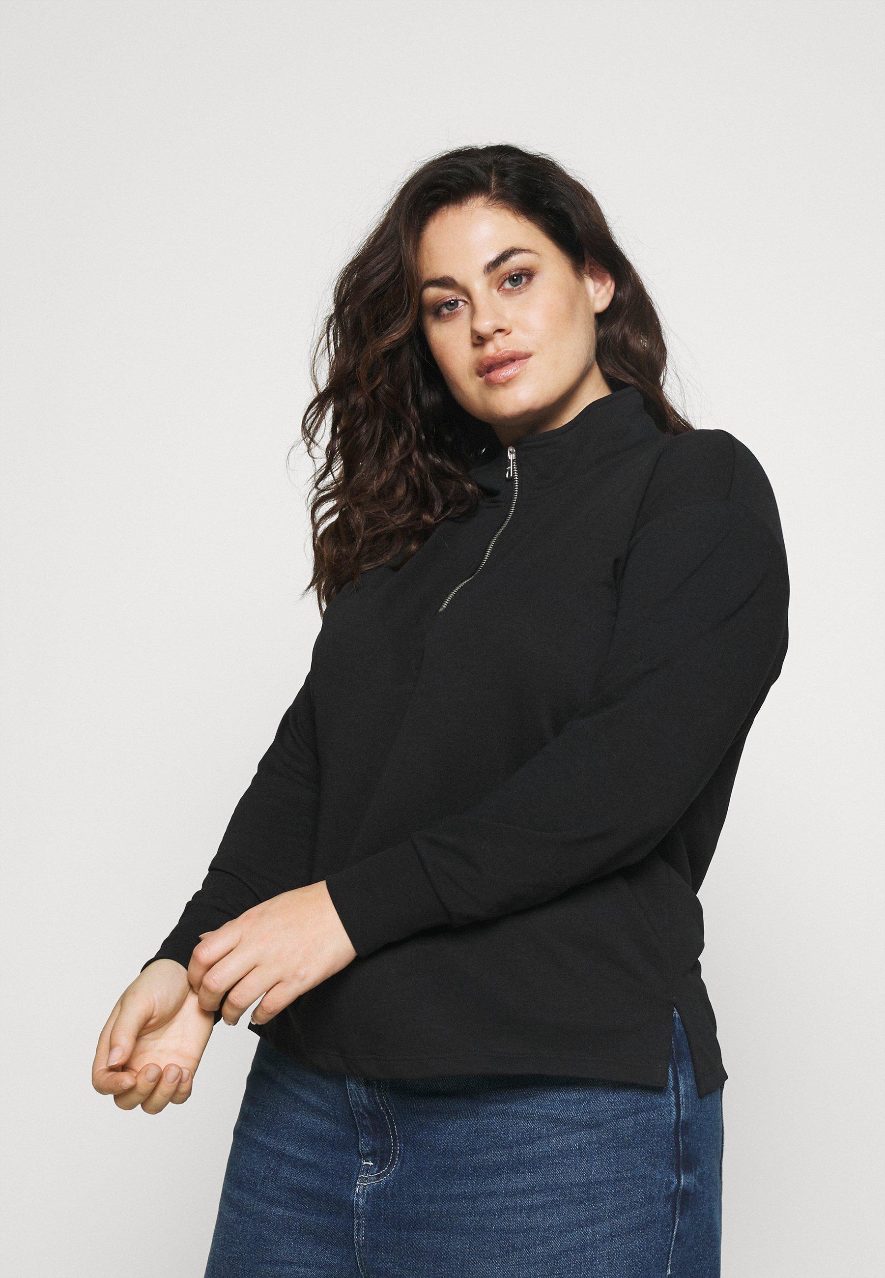 Women CARESSI LIFE HIGHNECK ZIP - Sweatshirt