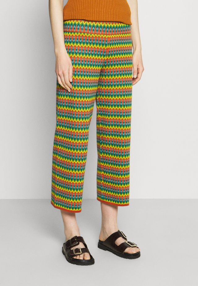 BORDER PANTS LADYLAND - Trousers - umbre