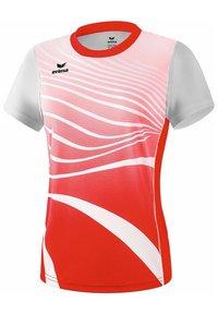 Erima - T-SHIRT DAMEN - Print T-shirt - rot / weiß - 0