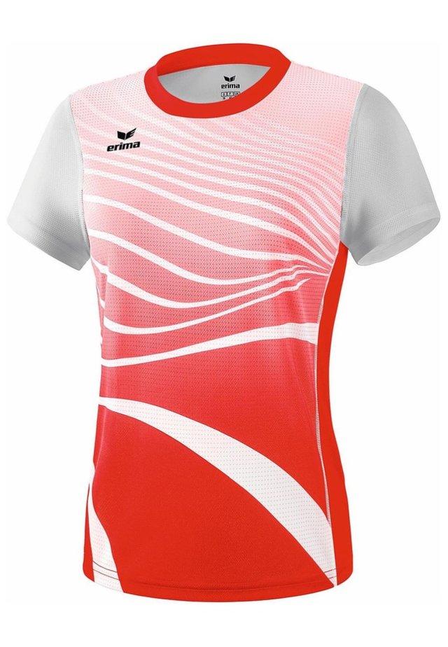 T-SHIRT DAMEN - Print T-shirt - rot / weiß