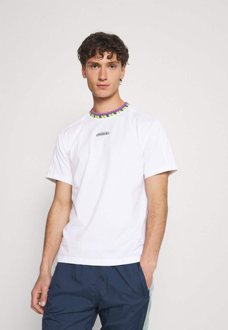adidas Originals - DETAIL UNISEX - T-shirt - bas - white