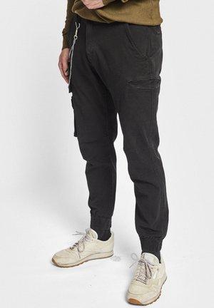 MILTON - Cargo trousers - black