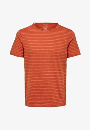 SLHMORGAN - T-shirt med print - ochre