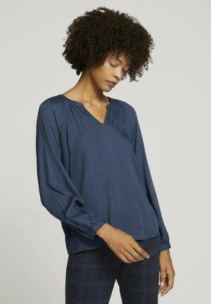Long sleeved top - dark denim blue