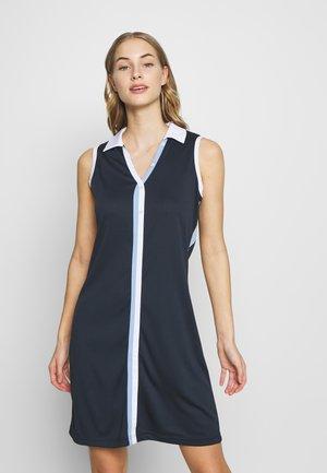 BRAIDED DRESS SOLID - Jersey dress - navy