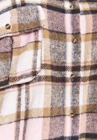 Missguided Plus - OVERSIZED SHIRT DRESS BRUSHED CHECK - Skjortekjole - pink - 5