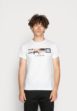 DEAN - Print T-shirt - optic white