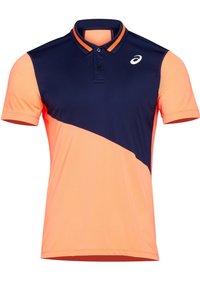 ASICS - Polo shirt - peacoat/flash coral - 3