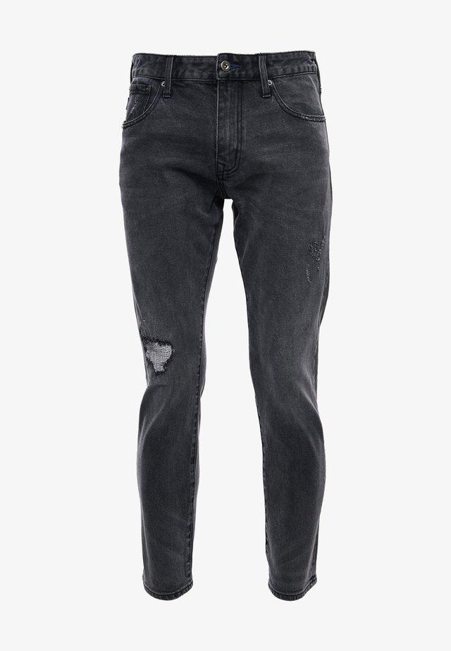 Jeans a sigaretta - columbus mid grey repair