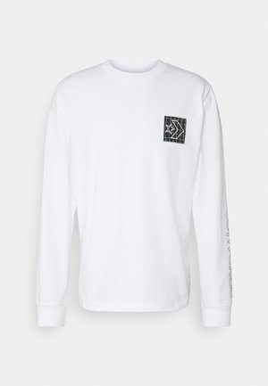 DISTORTED COURT LONG SLEEVE TEE - Langarmshirt - white