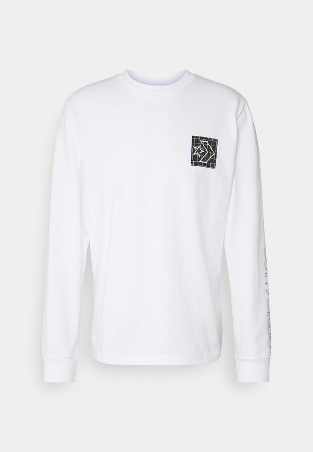 DISTORTED COURT LONG SLEEVE TEE - T-shirt à manches longues - white