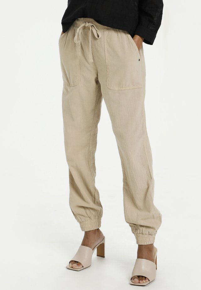 Trousers - classic sand
