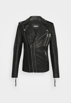 AKONO - Leather jacket - black