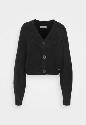 EASY CROP CARDI - Cardigan - black