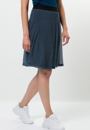 MIT MUSTER - A-line skirt - ink petrol