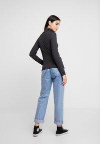 JDY - JDYCA MINI ROLLNECK  - Long sleeved top - dark grey melange - 2