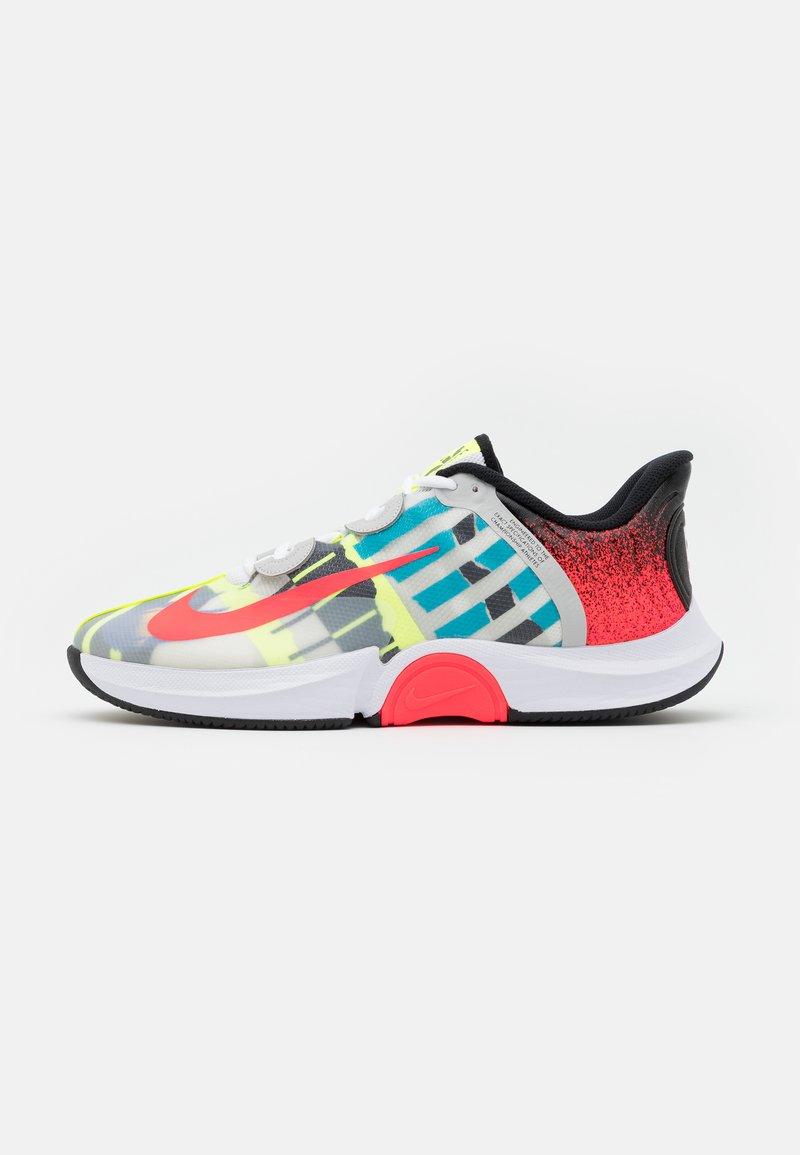 Nike Performance - COURT AIR ZOOM GP TURBO - Multicourt tennis shoes - white/solar red/hot lime/neo turquoise