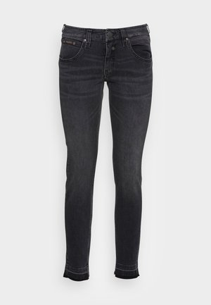 TOUCH CROPPED BLACK  - Slim fit jeans - inox
