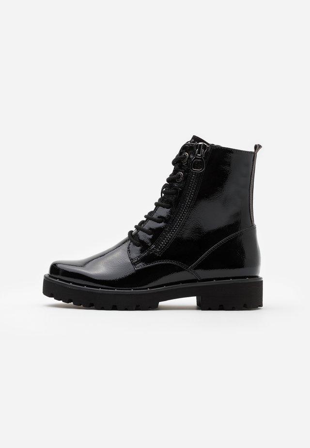 BOOTS - Platform ankle boots - black