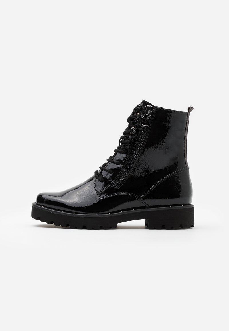 Marco Tozzi - BOOTS - Kotníkové boty na platformě - black