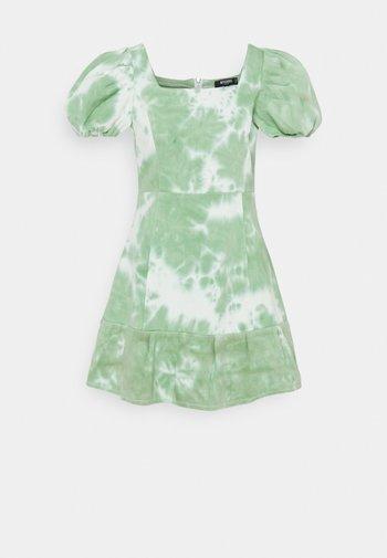 TIE DYE PUFF SLEEVE DRESS - Kjole - green