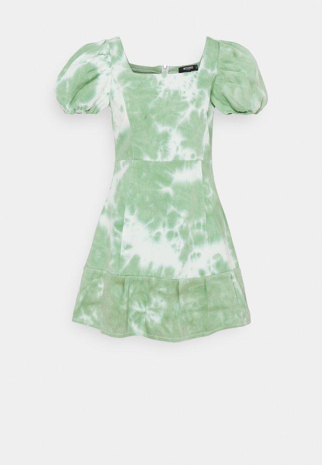 TIE DYE PUFF SLEEVE DRESS - Hverdagskjoler - green