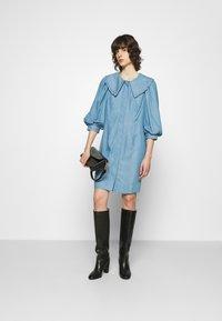 JUST FEMALE - TEXAS DRESS - Shirt dress - light blue - 1