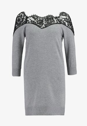ONLALLY 3/4 SPRING DRESS - Jumper dress - medium grey melange/black
