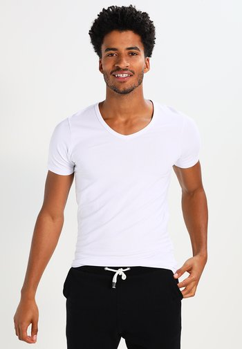 BASIC V-NECK  - T-shirt - bas - opt white