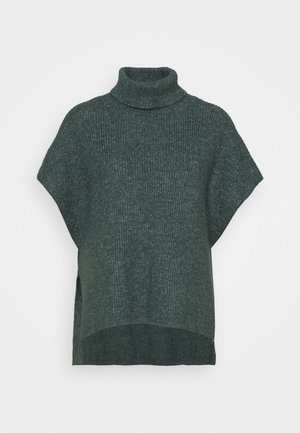 PONCHO MIRANDA - Cape - dark dusty green