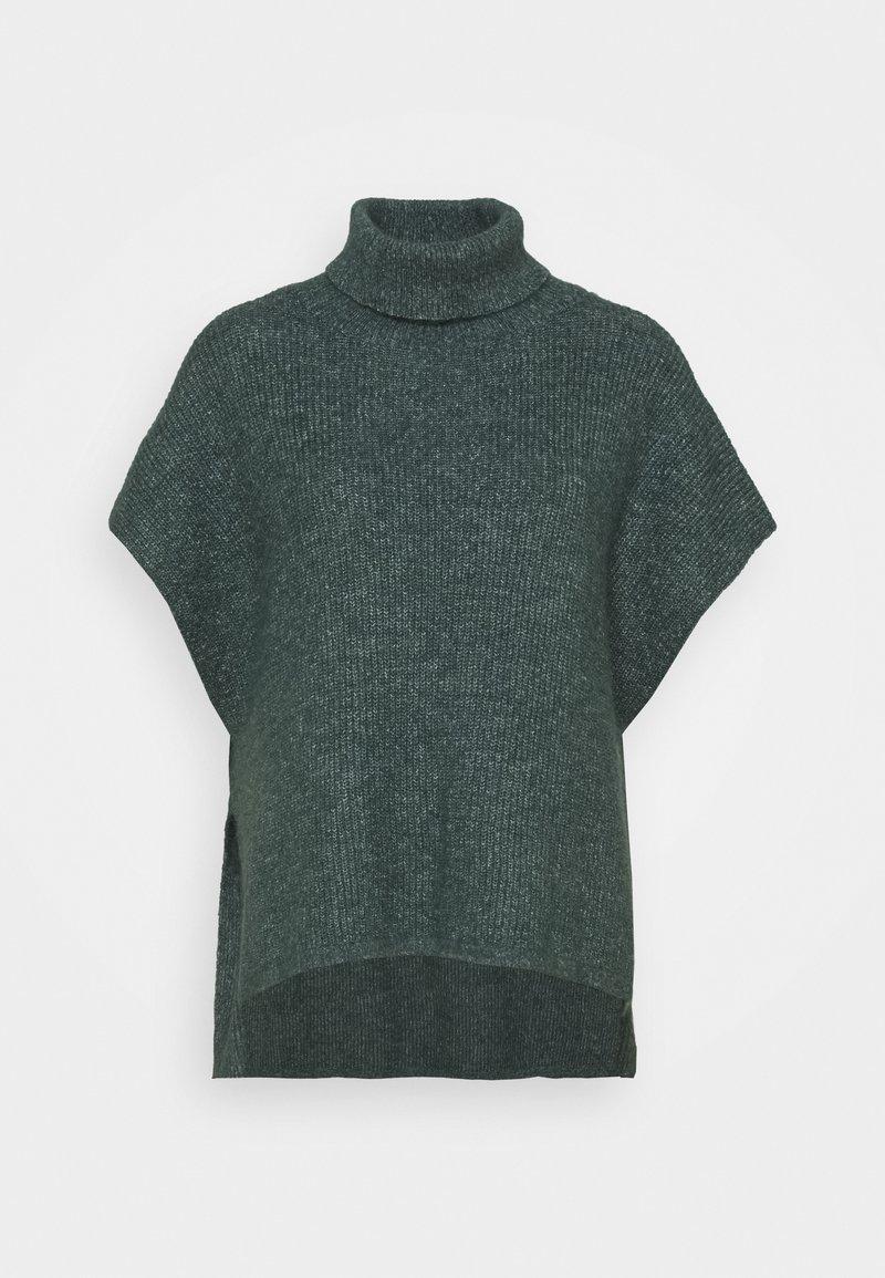 Lindex - PONCHO MIRANDA - Cape - dark dusty green