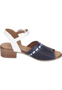 Piazza - Sandals - navy/weiß - 5